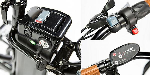 Bicicleta eléctrica plegable Moma E-Bike 20 con motor de 250W barata