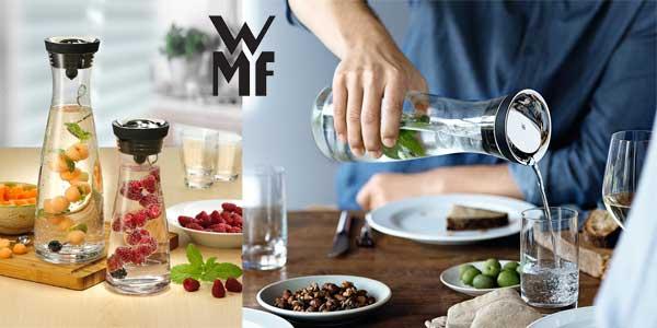 Botella de agua de cristal WMF con tapa y colador, 1,5L chollo en Amazon