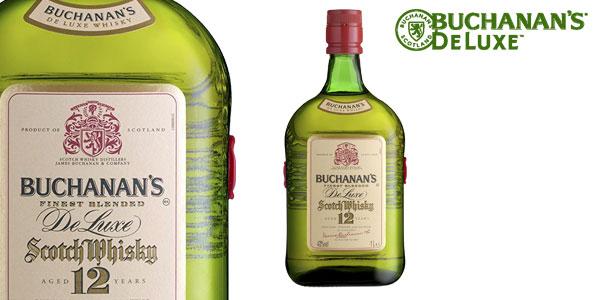 Buchanan's Deluxe Whisky Escocés de 12 años botella de 1000 ml barato en Amazon