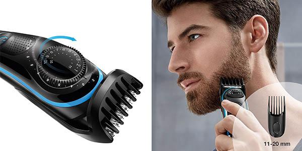 Braun BT3040 barbero con peines de diferentes medidas de corte y maquinilla manual de regalo a precio de chollo