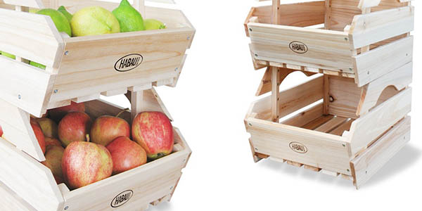 cajas de almacenaje para casa fáciles de apilar en madera resistente a precio de chollo