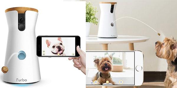 Cámara Furbo para perros con lanzamiento de golosinas Wi-Fi HD y audio bidireccional barata