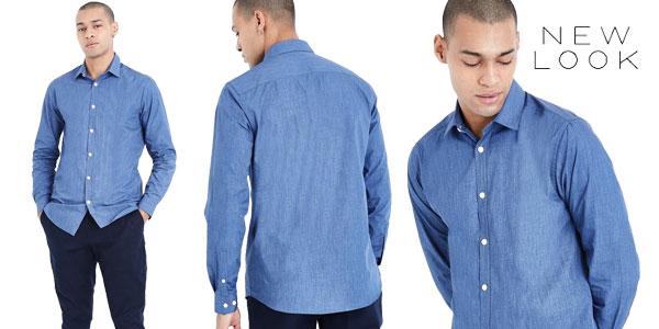 Camisa New Look Cross Dye en color azul para hombre barata en Amazon