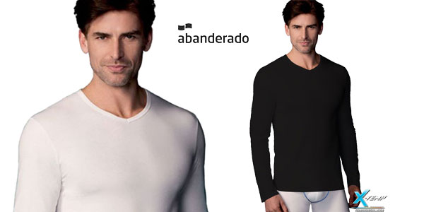 Camiseta interior Abanderado X-Temp de manga larga para hombre barata en Amazon