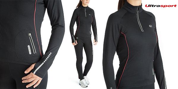 Camiseta de running Ultrasport Nelli de secado rápido y color negro para mujer barata