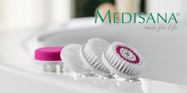Cepillo limpiador facial Medisana FB 885 recargable con 4 accesorios y 4 velocidades chollo en Amazon