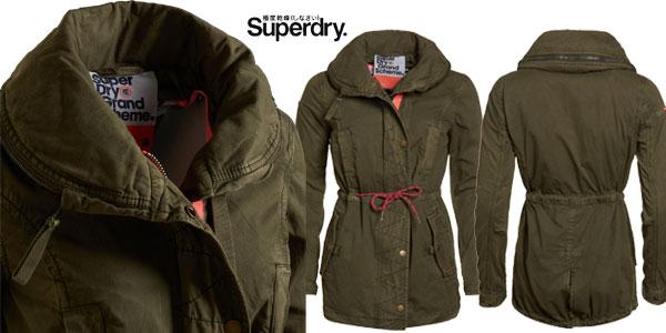 Cazadora Superdry Grand Scheme Jungle Parka True Army para mujer barata en eBay