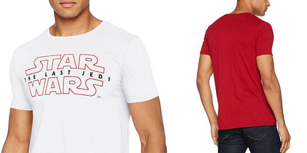 Chollo Camiseta Star Wars Los últimos Jedi de manga corta para hombre