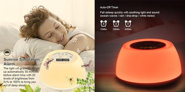 Chollo Despertador GRDE simulador de amanecer conluz de ayuda al sueño