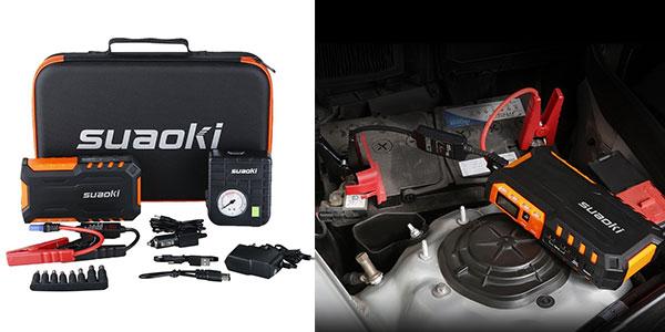 Chollo Arrancador de coches Suaoki G7 Plus con bomba de aire