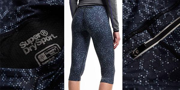 Chollo Leggings Superdry Gym Logo Mono Textural para mujer