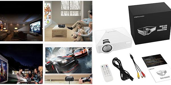 Chollo Mini proyector LED DBPower GP15 de 1.800 lúmenes con HDMI