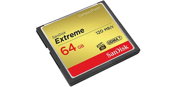 Tarjeta de memoria Compact Flash de 64 GB SanDisk barata