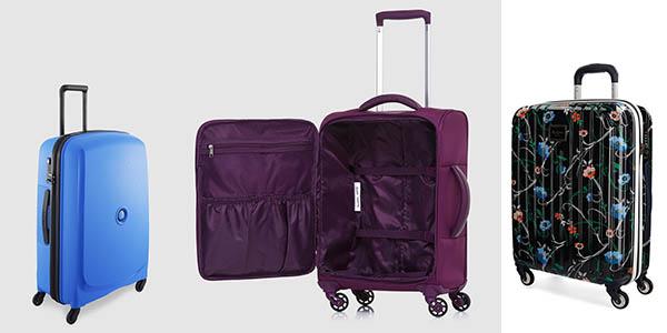 El Corte Inglés promoción Fiesta de la Primavera con trolleys y maletas de viaje baratas