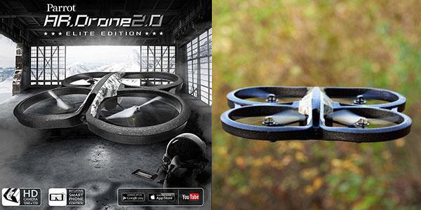 Cuadricóptero Parrot AR Drone 2.0 Elite Edition Snow con cámara HD en oferta
