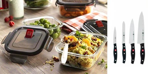 cuchillos y piezas de cocina con gran relación calidad-precio de la marca Zwilling