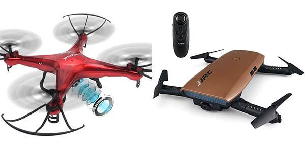 Cuadricópteros con cámara baratos en Amazon