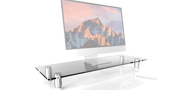Elevador de cristal Duronic DM052-3 para monitor, PC All-In-One, iMac o Portátil barato en Amazon