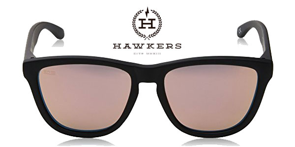 Gafas de sol unisex Hawkers Carbon Black Rose Gold One baratas en Amazon