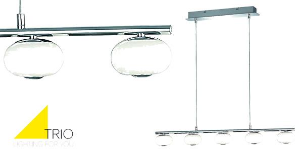 Lámpara de techo Trio Big Apple con 5 luces Led de 3.000º Kelvin barata en Amazon