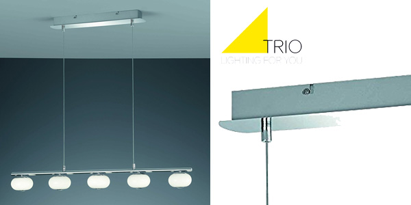 Lámpara de techo Trio Big Apple con 5 luces Led de 3.000º Kelvin chollo en Amazon