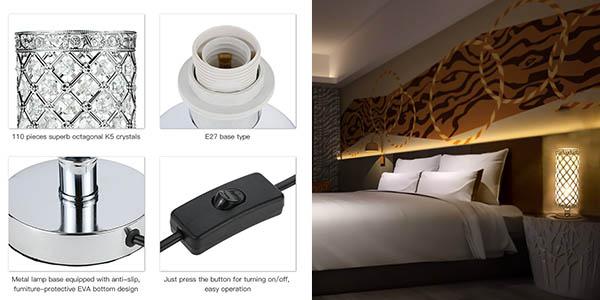 lámpara de sobremesa pequeña y elegante con genial relación calidad-precio