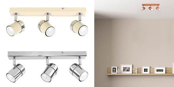 lámpara de techo con 3 focos orientables Minisun barata