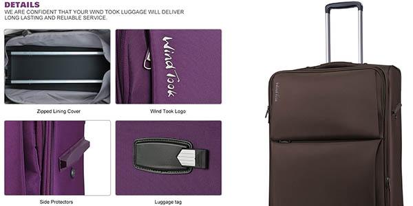maleta de mano semirrígida WindTook ideal para escapadas a precio brutal