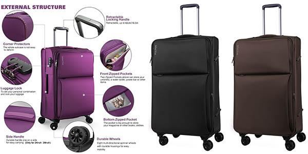 Guarda la ropa Alrededores Presa  Maleta de cabina WindTook semirrígida por sólo 38,49€ con envío gratis  ¡Valoraciones top!