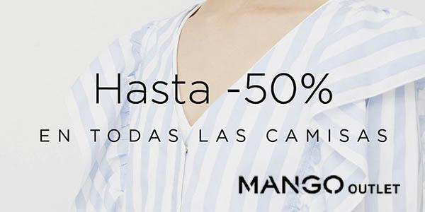 Mango Outlet camisas rebajadas para mujer abril 2018
