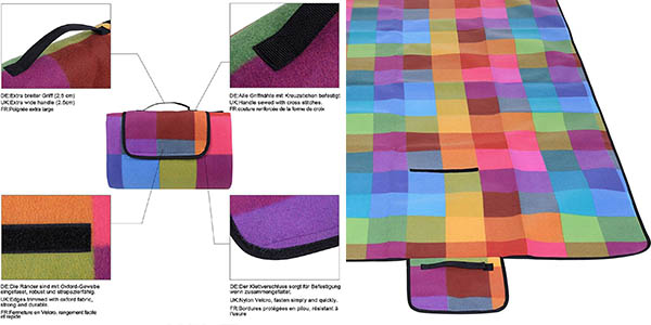 manta Songmics funcional de diseño colorido chollo