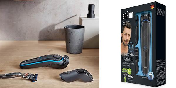 máquina de afeitar eléctrica Braun BT3040 con accesorios oferta