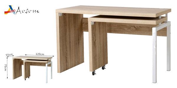 Mesa escritorio Homcom de Aosom extensible multiforma chollo en eBay
