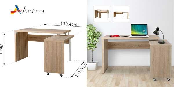 Mesa escritorio Homcom de Aosom extensible multiforma barata en eBay