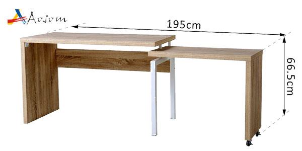 Mesa escritorio Homcom de Aosom extensible multiforma oferta en eBay