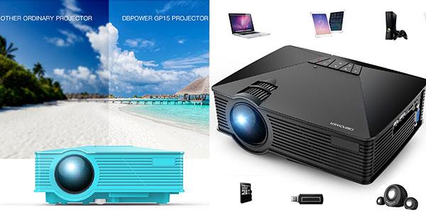 Mini proyector LED DBPower GP15 de 1.800 lúmenes barato