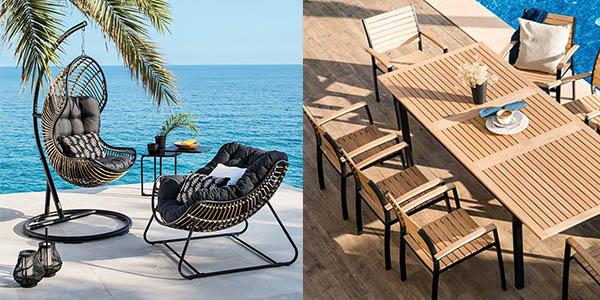 mobiliario de exterior barato en Carrefour con gran relación calidad-precio