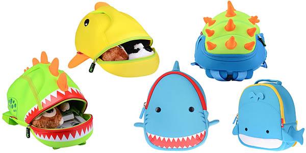 mochilas infantiles Georgie Porgy 3D con diseños de animales divertidos baratas