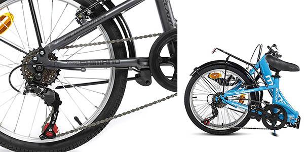 Moma Biles bicicleta plegable con cambio Shimano relación calidad-precio estupenda