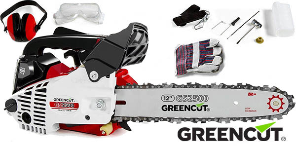 Motosierra de gasolina Greencut GS2500