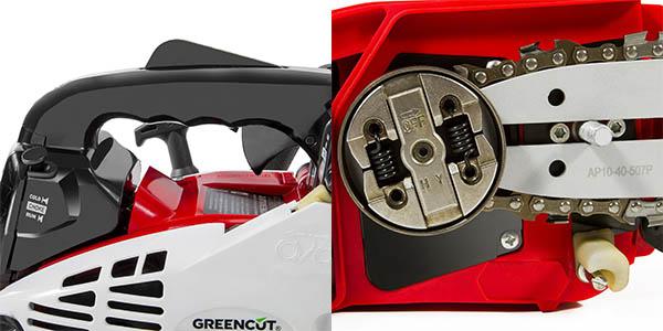 Motosierra de gasolina Greencut GS2500 con espada de 12 pulgadas