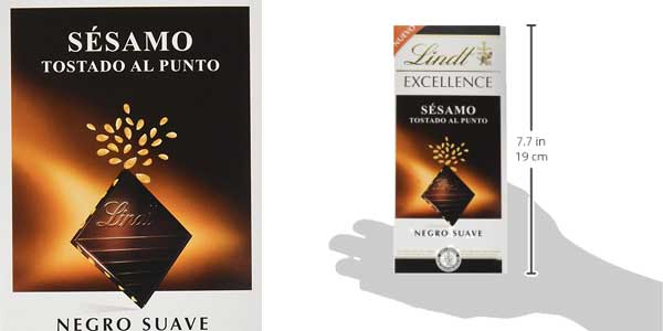Pack 10 Tabletas de Chocolate Negro Lindt Excellence con Sésamo Tostado chollo en Amazon