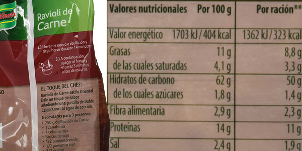 Pack de12 envases de Ravioli rellenos de Carne Knorr oferta en Amazon