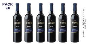 Pack 6 botellas de vino Antaño Crianza Rioja Bodegas García Carrión barato en Amazon