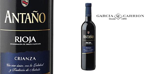 Pack 6 botellas de vino Antaño Crianza Rioja Bodegas García Carrión chollo en Amazon
