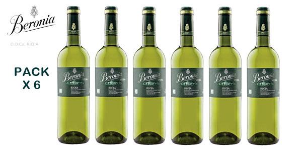 Comprar Pack 6 botellas Vino blanco Beronia Viura D.O.Ca. Rioja de 750 ml barato en Amazon