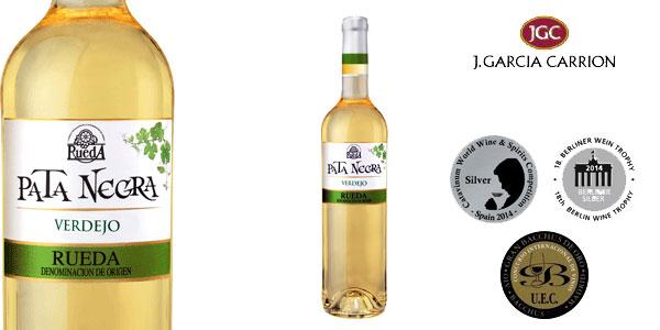 Pack de 6 Botellas x 750 ml Vino blanco Pata Negra Verdejo Rueda chollo en Amazon