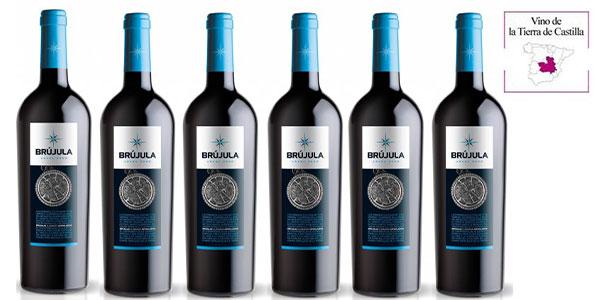 Pack de 6 botellas de vino tinto Brújula Reserva 2009 barato