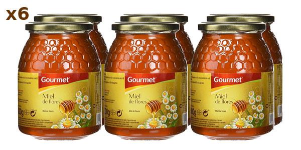 Pack de 6 botes de 1 kilo de Miel de flores Gourmet barato en Amazon