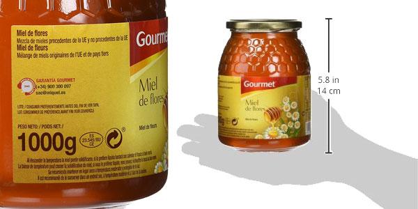 Pack de 6 botes de 1 kilo de Miel de flores Gourmet chollo en Amazon